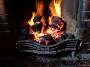fire is well alight flames glowing