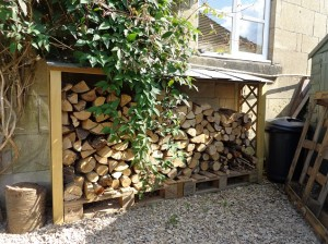 a fire wood shed