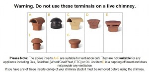 A selection of chimney terminals