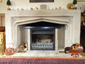 A fireplace with jetmaster insert